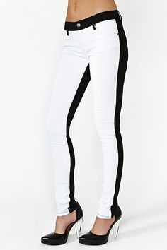 B & W Skinny Jean
