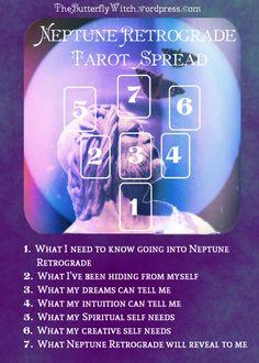 Tarot Spread for Neptune Retrograde - The Butterfly Witch on Wordpress #tarot #tarot spreads #astrology