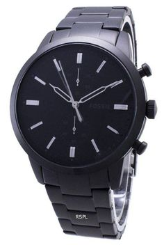 Features: Stainless Steel Case Leather Strap Quartz Movement Mineral Crystal Black Dial Analog Display Chronograph Function Date Display Screw Down Crown Solid Case Back Buckle Clasp Water Resistance Approximate Case Diameter: Approximate Case Thickness: Stainless Steel Bracelet, Stainless Steel Case, Fossil Watches, Watches Online, Michael Kors Watch, Mineral, Omega Watch, Chronograph, Watches For Men