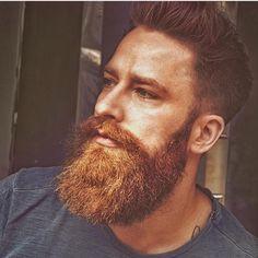 Red Hair Men, Grey Hair, Great Beards, Awesome Beards, Beard Styles For Men, Hair And Beard Styles, Moustache, Bald With Beard, Viking Beard
