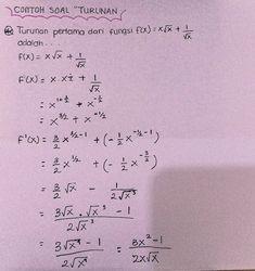 Catatan Tentang Pas Turunan Kelas 11 Sma Clear Di 2021 Pelajaran Matematika Belajar Kalkulus