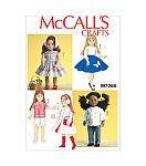 Mccall Pattern M7266-Osz-18 Retro Doll Clothes-One Siz...