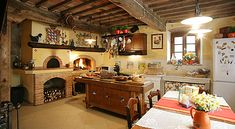 Isn't this kitchen to die for!!!!!  Tuscany Villas | Tuscany villas for rent with swimming pool near Lucca in Tuscany Italy