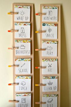 routine cards... cool for all of you who have children .... wonder if I can adapt it for day care?