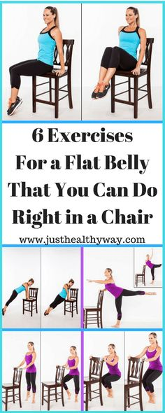 6 EXERCISES WITH A CHAIR FOR A FLAT ABDOMEN IN THREE WEEKS AND AN ENVIABLE BACK. LOOK HOW YOU CAN GET IT! - Just Healthy Way
