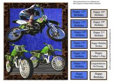High Flying Motor Cross Quick Card Topper on Craftsuprint - Add To Basket!