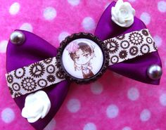 Attack on Titan Cleaning Levi Hair Bow by hobbittownjewelry