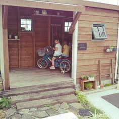 グリーン 多肉/双子/小屋/お庭。/自転車小屋/玄関/入り口…などのインテリア実例 - 2015-07-03 16:44:59…