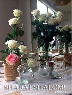Mi mesa de Shabat  oro y blanco