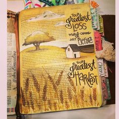 Bible Journaling by Christina Lowery @Christina Lowery | Ruth 1