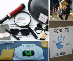 Spy Party Ideas | Mystery Party Ideas at Birthday in a Box