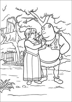 Dibujos para Colorear Shrek 96