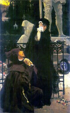 Ilya Repin (Russian 1844–1930) [Realism, Peredvizhniki] Stone Guest, Don Juan and Donna Anna, 1885.