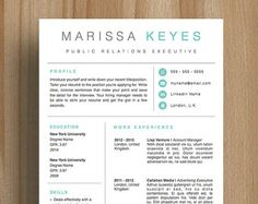 Resume Template Cover Letter Cv Template Us Letter A