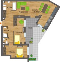 nowe mieszkanie w katowicach 100 M2, Floor Plans, Floor Plan Drawing, House Floor Plans