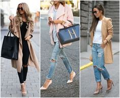 Christine Andrew is wearing a blush pink coat from Lovers + Friends and the matching shoes are from Kurt geiger… Winter Mode Outfits, Winter Fashion Outfits, Fall Outfits, Autumn Fashion, Casual Outfits, Casual Chic, London Stil, Looks Instagram, Outfit Invierno