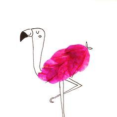 Flamingo + petálas | by wannelle | instagram (wannelle)