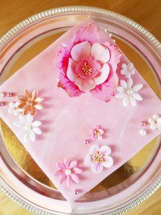 Pytteliten rosa tårta med guld | Cakes!
