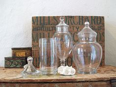 Vintage Glass Apothecary Jars for Candy Favours