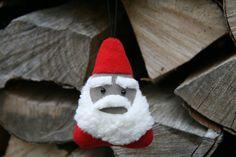 Weihnachtsdeko / Stoffanhänger Santa от BogThomHandmade на Etsy