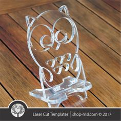 Cell phone stand laser cut owl template, pattern, design, Mothers day gift.  Free Vector designs every day.