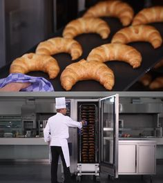 Pečenie croissantov na konvektomate Rational Sausage, Cooking Recipes, Meat, Food, Sausages, Chef Recipes, Essen, Meals, Eten