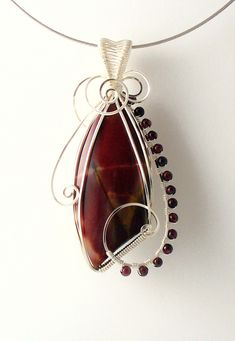 Mookaite and Garnet pendant | sold | dawnblairjewelry | Flickr