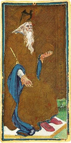 Arcane IV : L'Empereur - Tarot Visconti-Sforza.