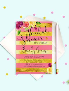 Bridal Shower  Invitation Bridal Shower Printable by AlniPrints  #Bachelorette #Bridal #Shower #Invitation #brunch #idea #invite #Lingerie #party #dinner
