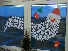 Santa window decoration