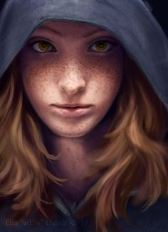 Modern young female with freckles:Tusen by on deviantART Character Creation, Character Concept, Character Art, Character Design, Concept Art, Fantasy Women, Fantasy Rpg, Medieval Fantasy, Fantasy Portraits