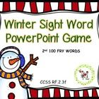 An interactive PowerPoint game that addresses the 2nd 100 sight words. CCSS RF.2.3f