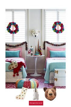 Why confine holiday decor to trees and tabletops? Add festive flair to kids' rooms with whimsical accents in unexpected colour combos – we guarantee your tiny tots will find it easy to sleep tonight. Start the fun with a shopping trip to your local HomeSense store.