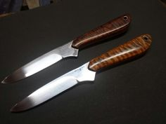 Tiger maple bird and trout knives