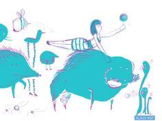 Croquetiquin y sus amiguitos, una ilustración de Klaus KSP.