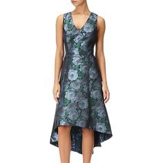 610d8f55706f Adrianna Papell High-Low Floral Dress, Blue/Navy at John Lewis & Partners