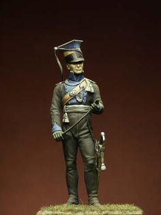 I Soldatini di Gaetano Ciotola: Ufficiale Ulani di Brunswick , Waterloo 1815 - Autore Pasquale Cannone -Collezione Gaetano Ciotola