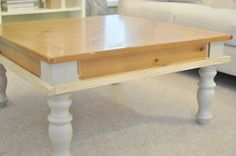 I am so excited to share with you my most recent project... turning an old table into an upholstered ottoman! It was actually really easy a...