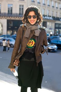 Yasmin Sewell- could this outfit look more effortless and renegade?