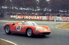 Victorious at Le Mans in 1963 in Ferraris' first V12 mid engined endurance racer the 250P. He shared the car with fellow Italian Ludovico Scarfiotti.