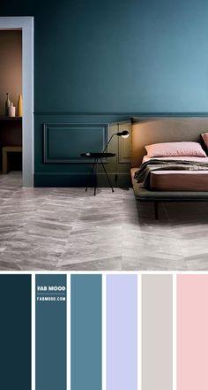 Teal Bedroom Walls, Dark Teal Bedroom, Teal Rooms, Bedroom Wall Colors, Colour Combinations Interior, Interior Color Schemes, Bedroom Color Schemes, Teal Color Schemes, Dark Color Palette
