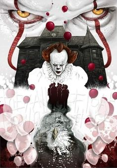 Solo Movie Poster Font against Marvel Movie Posters For Sale Le Clown, Creepy Clown, Arte Horror, Horror Art, Es Stephen King, Stephen Kings, Scary Movies, Horror Movies, Funny Horror