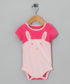 Take a look at this Pink Bunny Bodysuit - Infant by Lazoo on #zulily today!