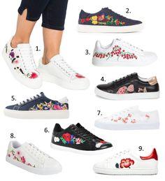 ffea8a0d3f7843 Tendances chaussures Printemps-Eté 2017 : les baskets brodées Basket Ete  Femme, Chaussures Printemps