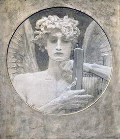Mourning Genius, Nikolaos Gyzis, Die Kunst für Alle, 1902.