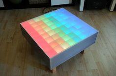 64 RBG LED Color Table, Edo Kriegsmann, interior design, home decor, lighting, furniture, tables