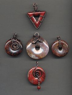 Copper wire wrapped pendants | Flickr - Photo Sharing!