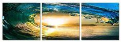 Ripcurl. Contemporary Art, Modern Wall Decor, 3 Panel Wood Mounted Giclee Canvas Print, Ready to Hang A1227 by SLS Vision. $69.99. Each piece is individually wrapped and whole package is double boxed for safe delivery. Total Size: 47 3/4 by 15 3/4 inches. Each panel: 15 3/4 by 15 3/4 inches; thickness: 3/4 inch. Great quality. Money-back satisfaction guarantee. 3 piece set, mounted to wood panels canvas giclee print. Ready to hang. All wall hanging materials are inclu...