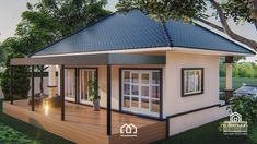 10 Contemporary House Designs With Floor Plan Perfect for Modern Family Small Cottage Designs, Small Cottage House Plans, Bungalow House Plans, Bungalow House Design, Modern Bungalow, Small House Design, Modern House Plans, Modern House Design, One Storey House