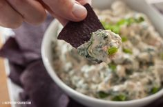 Inspired By Charm: The BEST Spinach Dip